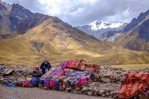 Roadside Vendors - Cordillera de los Andes, Peru
