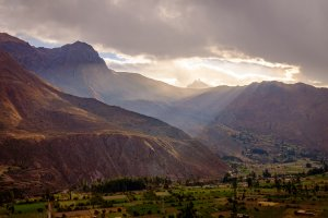 A Parting in the Clouds - Ollantaytambo, Peru