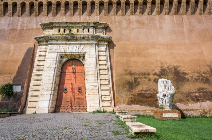 Lower Doors at Castel Sant'Angelo - Rome, Italy