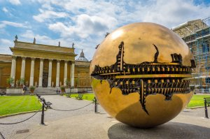 Sphere Within Sphere Sculpture - Vatican City, Italy