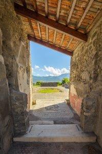 Doorway at Pompeii - Pompeii, Italy