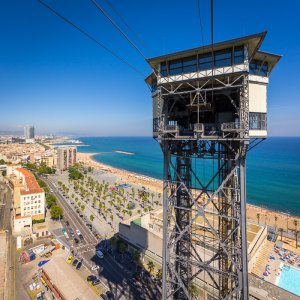 View from the Cable Car - Barcelona, Spain