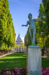 View of the Pantheon from the Luxembourg Gardens - Paris, France