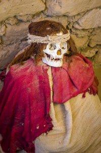 Mummy at Chauchilla Cemetery - Nazca, Peru