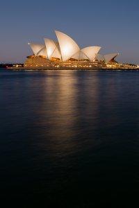 Sydney Opera House at dusk - Sydney, Australia