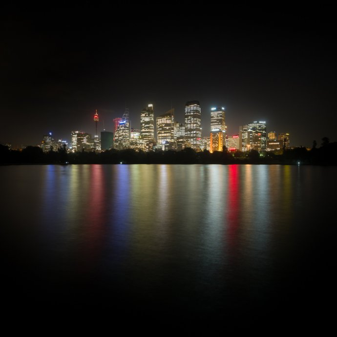 Sydney skyline at night - Sydney, Australia