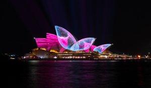 Sydney Opera House at the Vivid Light Festival - Sydney, Australia