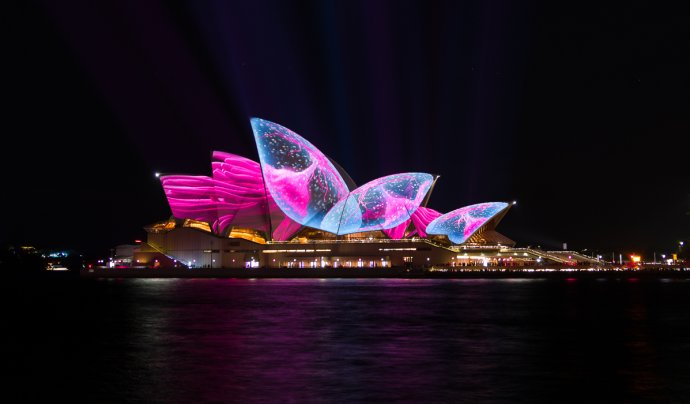 Sydney Opera House at the Vivid Light Festival - Sydney, Australia