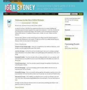 IGDA Sydney Website